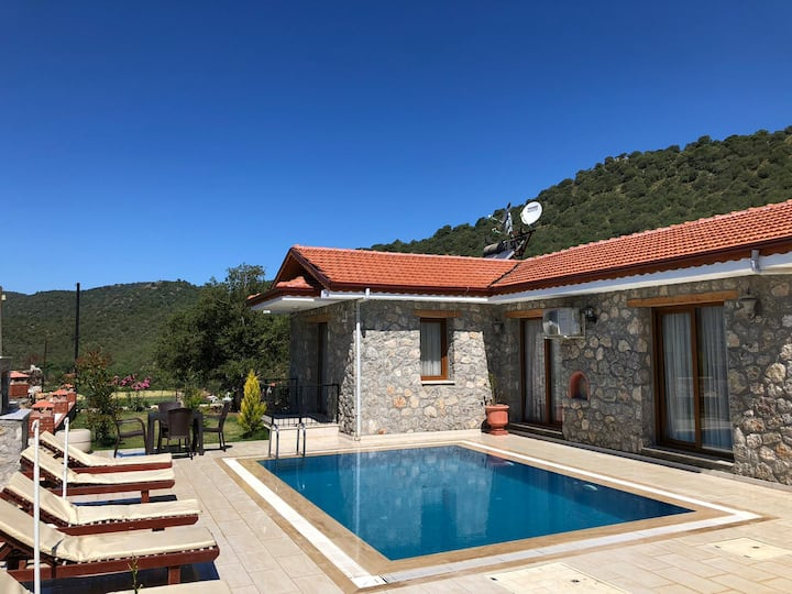Private pool villa in Kayakoy for up to 4 people