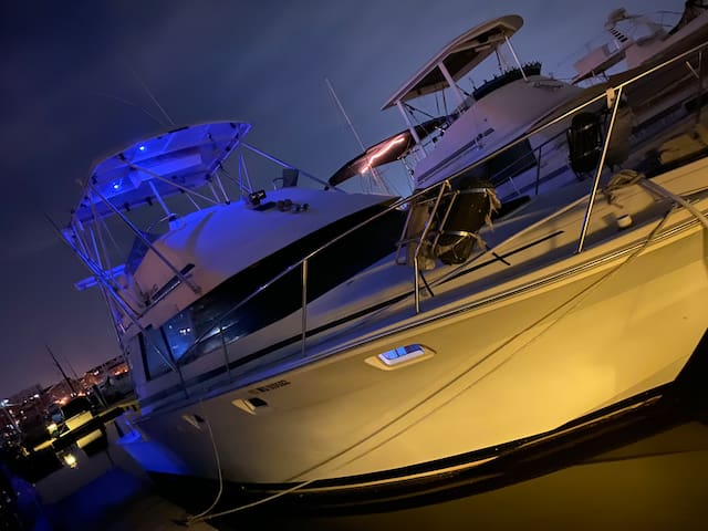 """Have fun living aboard!! 34"""" boat with WiFi"""