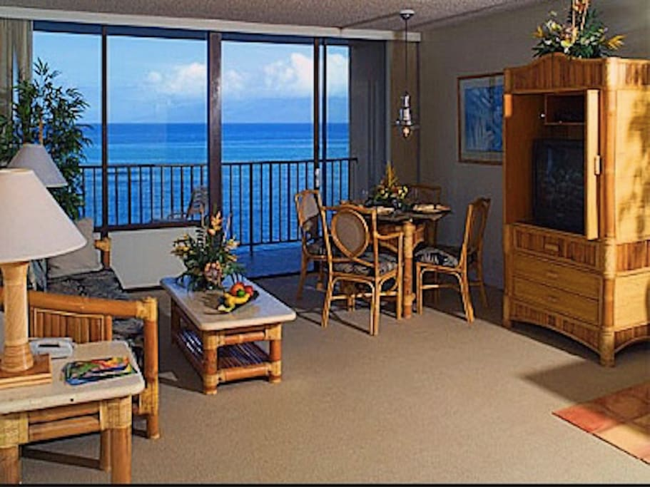 Bedroom and living room have walk out balcony