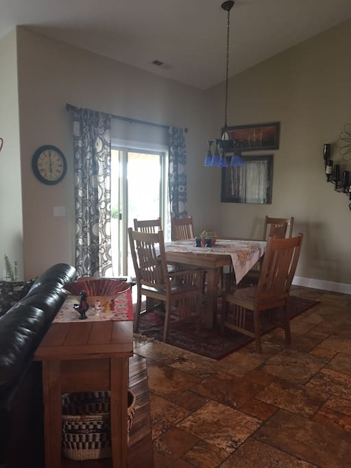 Dining room - next to doorway to patio