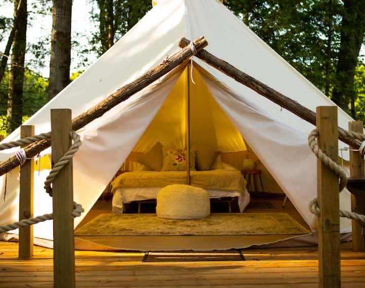 Experience luxury on-farm glamping