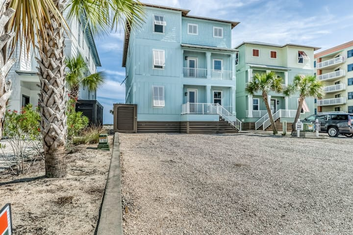 Luxurious Gulf-front home w/ private pool, sundeck & boardwalk beach access!