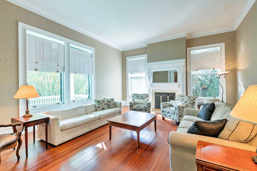 The interior is well-appointed and provides all the comforts of home.