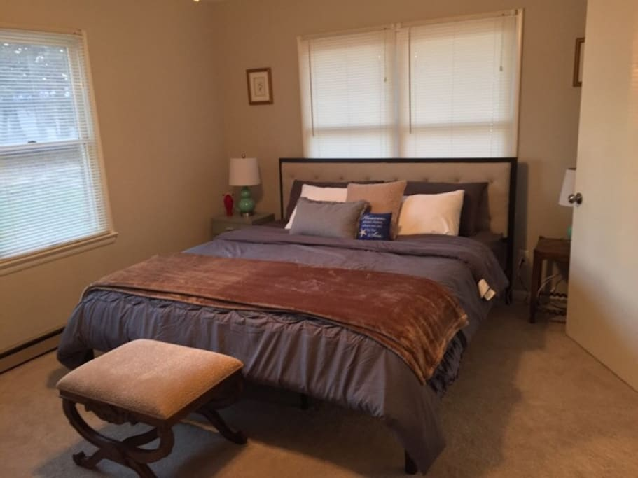 Master Bedroom with King Bed and Huge Walk-in closet!