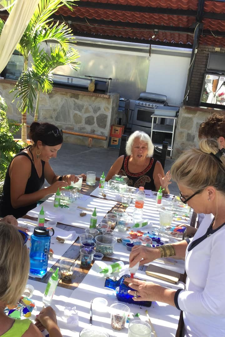 Beach Glass w Bottles Workshops