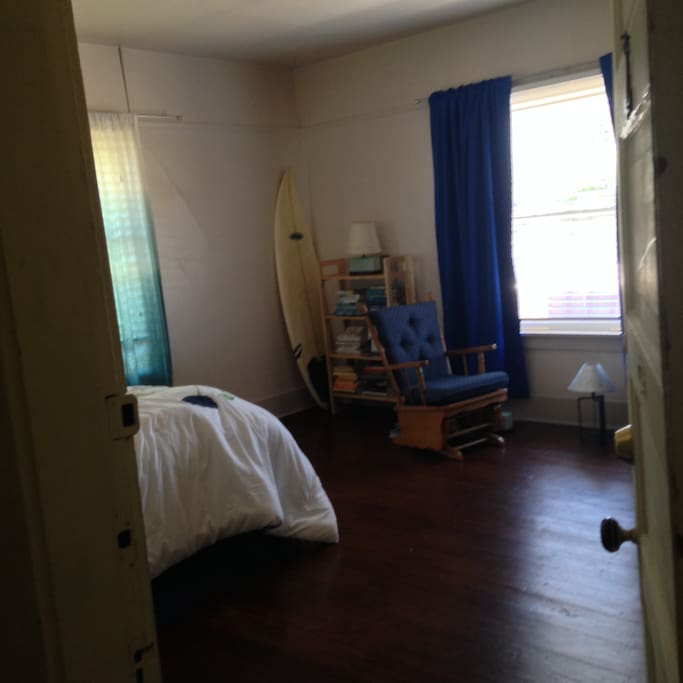 Bedroom area and part of reading area