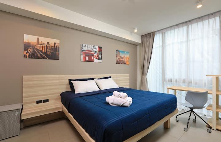 Comfy modern 45m2 studio apartments, rooftop Pool ❤️ BangTao Beach (705)
