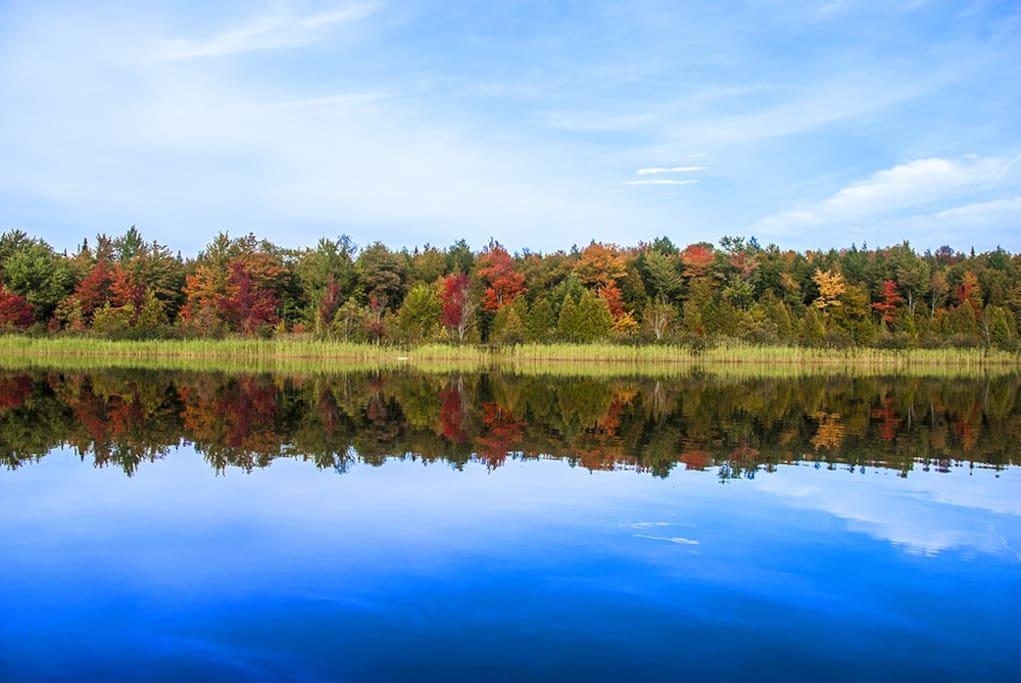 Un jour d'automne au Lac St-Georges