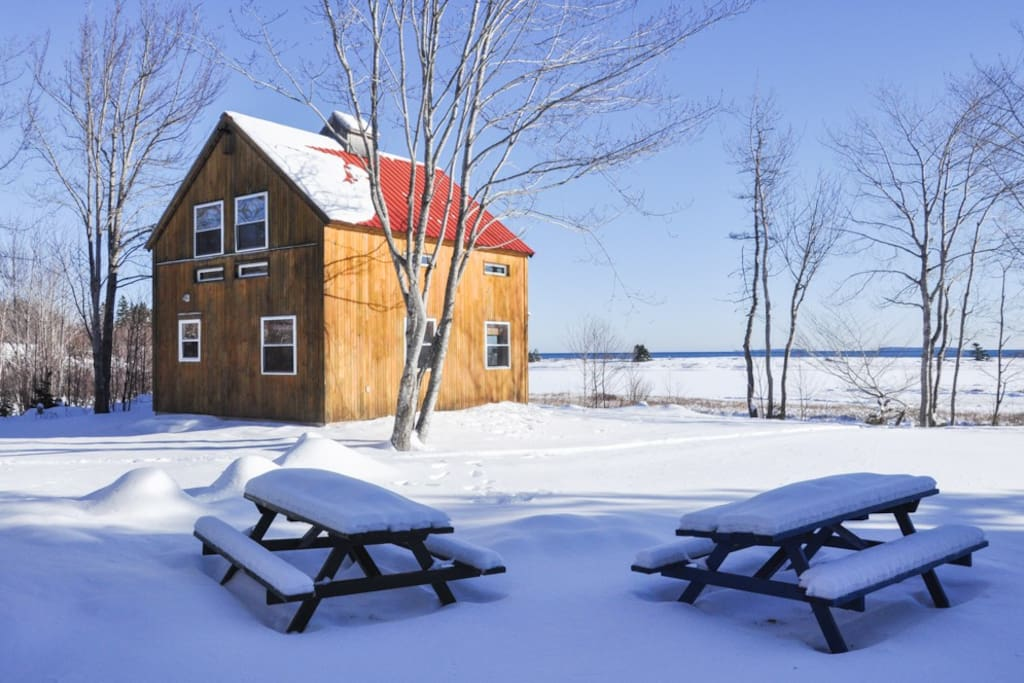 Equipped with a wood stove and a heat pump, the chalets are an option year round.
