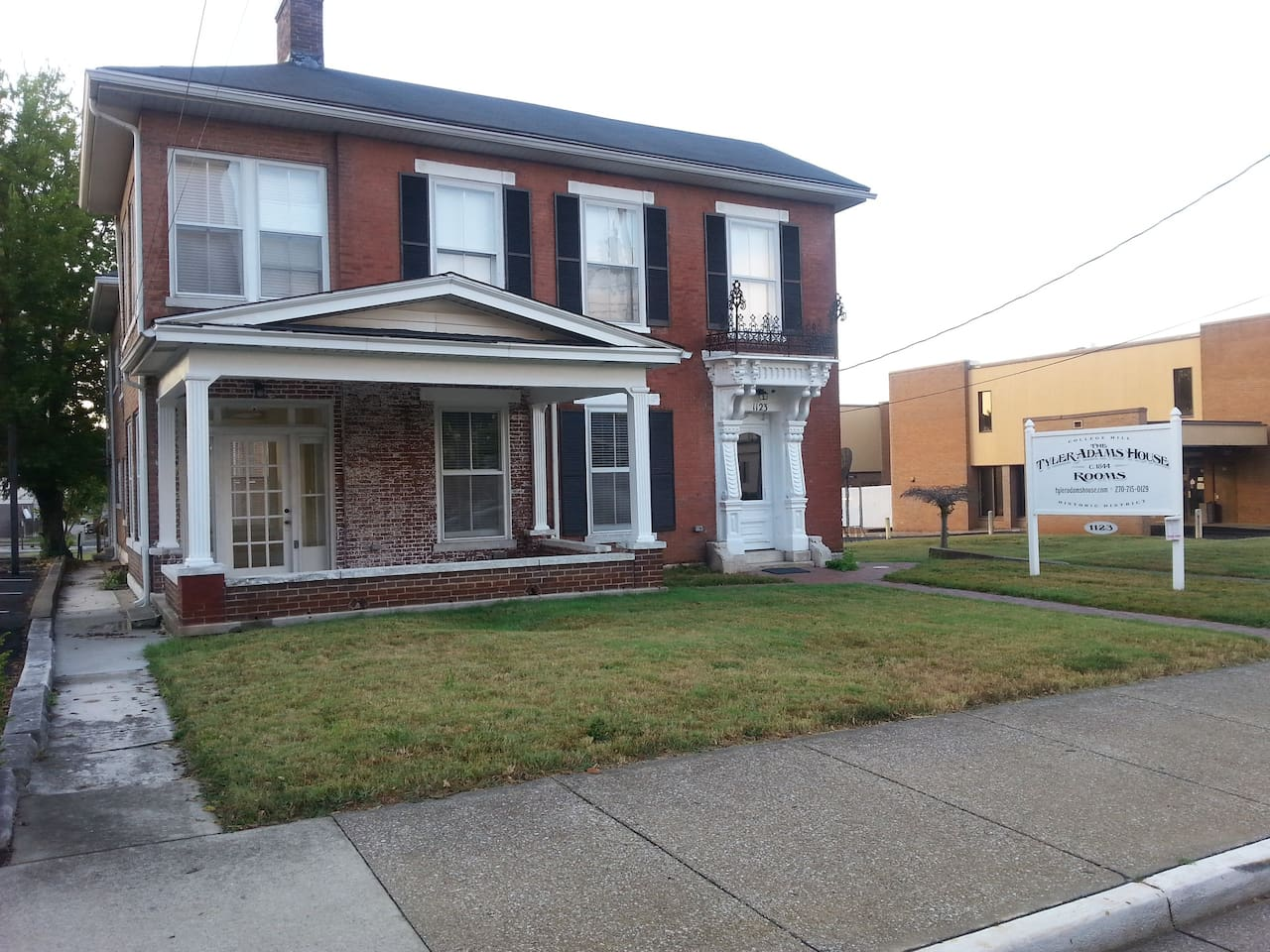 The historic Tyler Adams House awaits you in downtown Bowling Green KY. Check out this room with a shared bathroom!