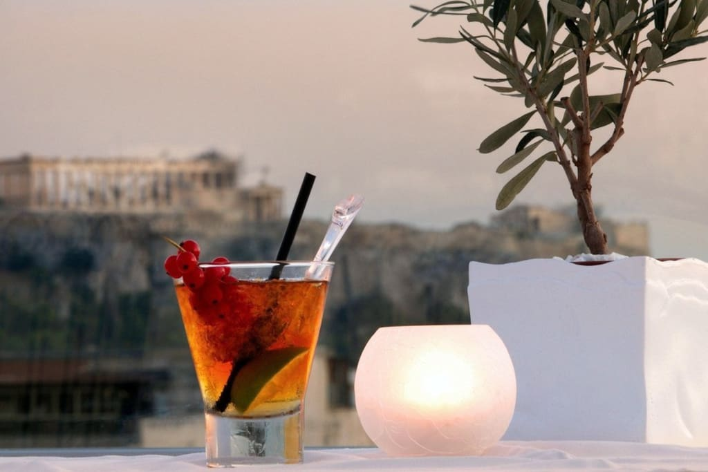 relax, have a drink and enjoy Parthenon's view