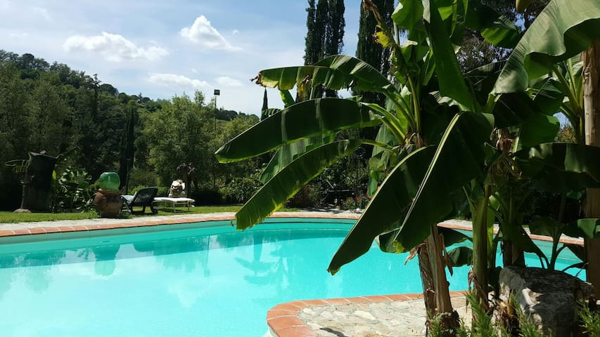 Vintage apt in Tuscany/ pool/ wifi - Montevarchi - Appartement