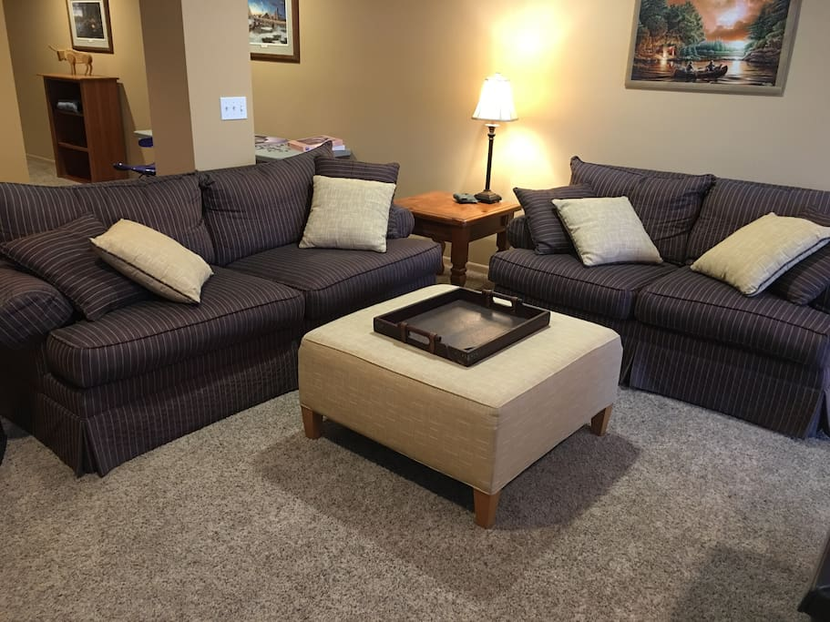 Super comfy couch and love seat, great for relaxing, and many have enjoyed sleeping on the couch.