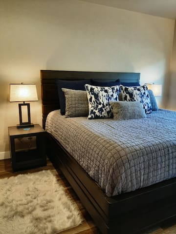King bedroom with special touches to make it even cozier