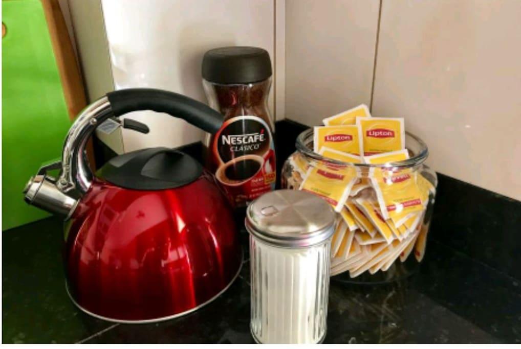 Coffee and tea help yourself