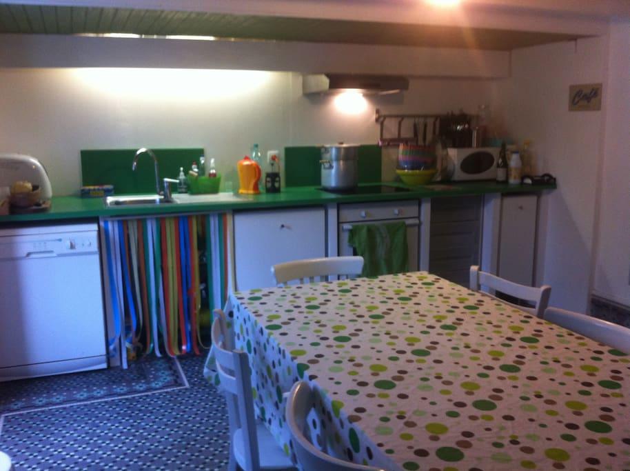 La cuisine, une grande pièce à vivre