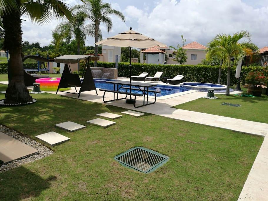 Casa playa en decameron panama con piscina privada casas for Alquiler de casas con piscina privada