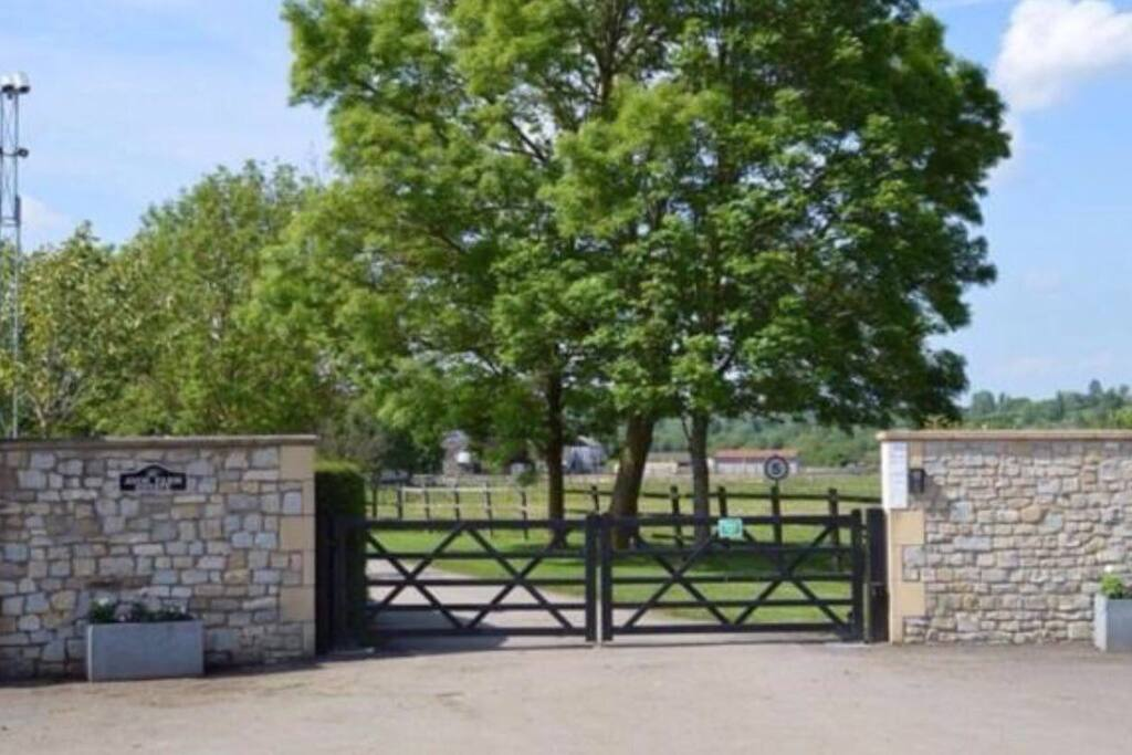 Avon Farm Estates.  A beautiful entrance to a stunning property