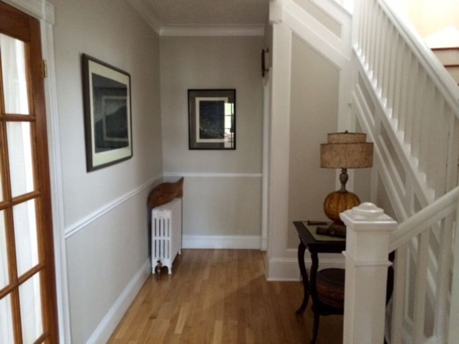 downstairs hallway includes a separate porch