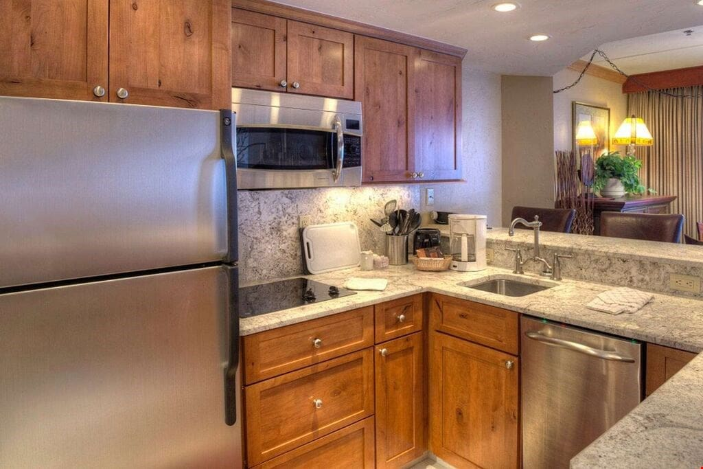 Cook meals in the privacy of your own suite with the upgraded efficiency kitchen.