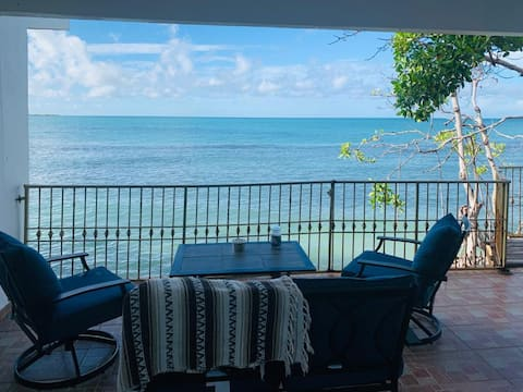 wake up to the relaxing sounds of Caribbean waves!