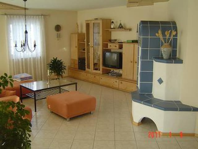 Newly restored apartment with large garden to relax and the balcony to enjoy the view over the Bavarian Forest