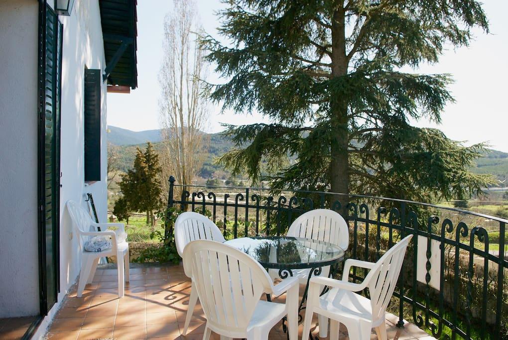 Terraza con vistas - perfecto para el desayuno