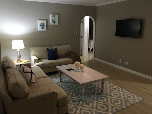 Cozy and spacious for everyone to gather to watch tv or simply enjoy each other's company!