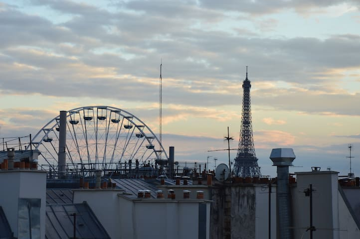 APPARTEMENT PARIS 1st district, view Eiffel Tower - Paris - Wohnung