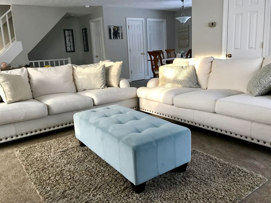 Common Space/Living Area- The two large sofas are AMAZINGLY comfortable for sitting or sleeping