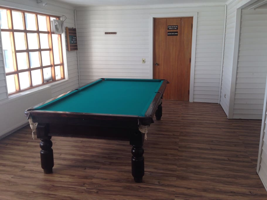 Pool table of the building