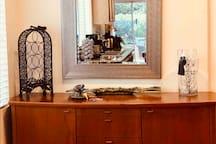 Kitchen, wine rack and kitchen armoire