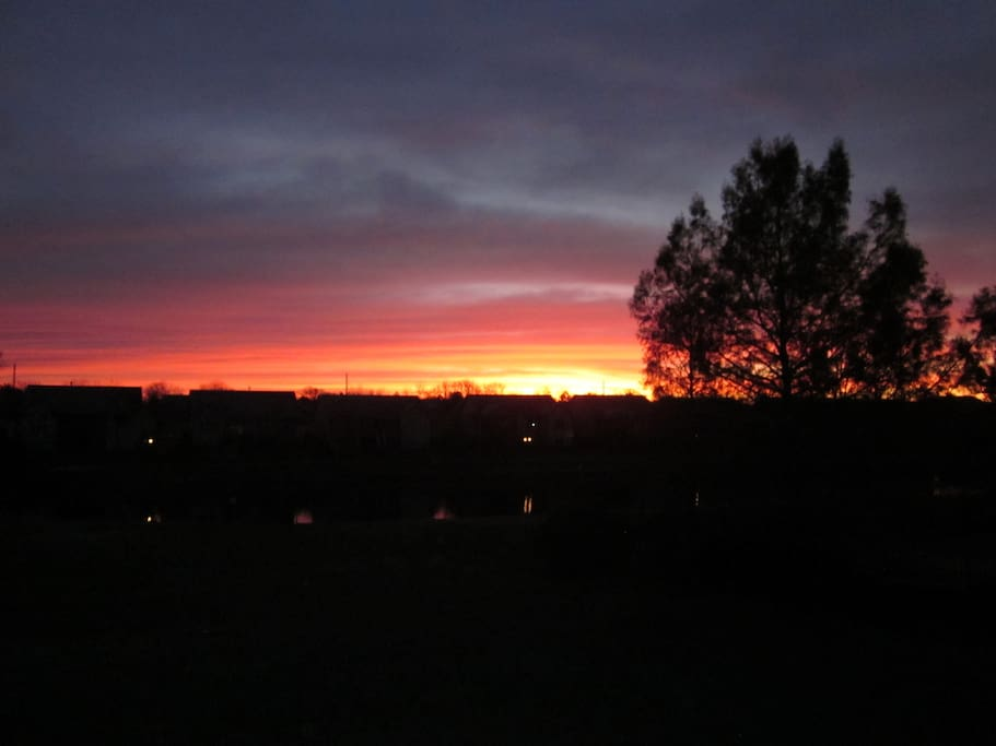 Wrap yourself in a warm blanket and a morning coffee while watching spectacular Kansas sunrises