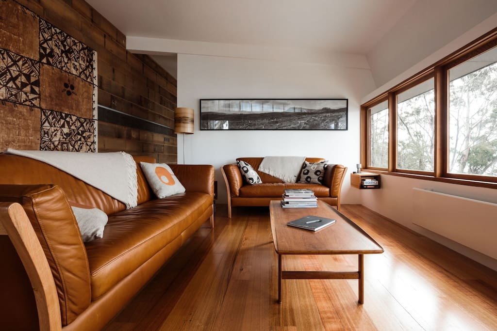 The Lounge Room. Hand made furniture, hand made art, hand made apartment. Comfort and peace.