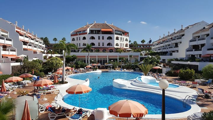 S1, Playa de las Americas, 2 chambres, vue piscine