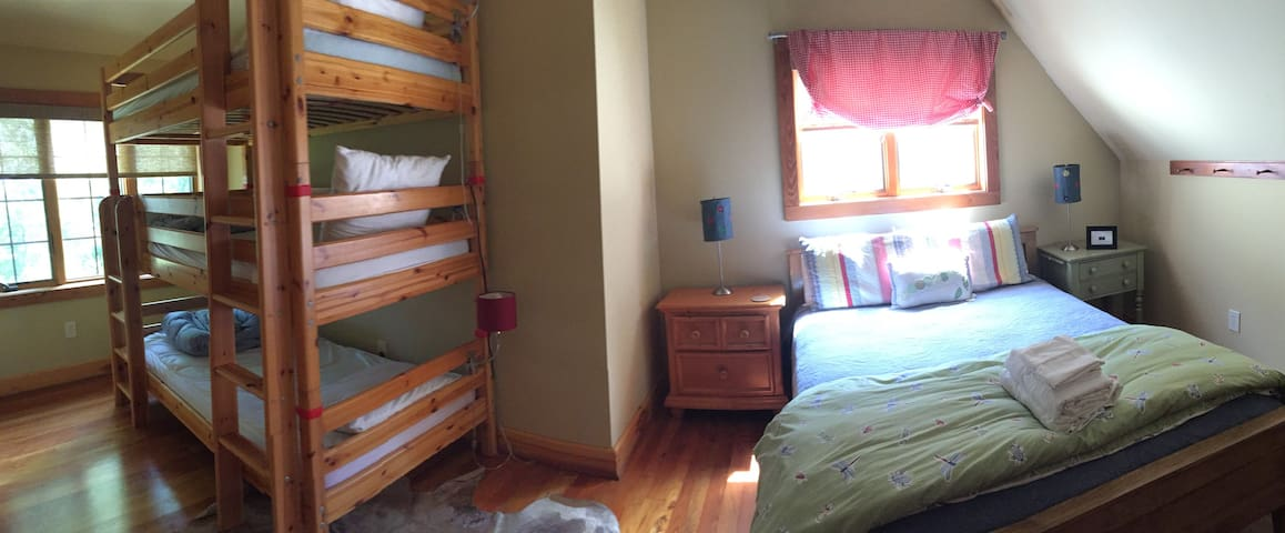 Upstairs Queen and Bunk room