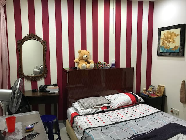 Master bed in condominium