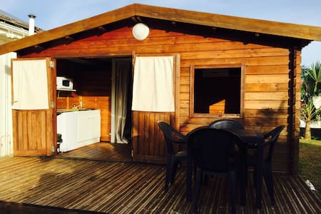 Bungalow with pool and views of mountains - Capesterre Belle Eau - バンガロー