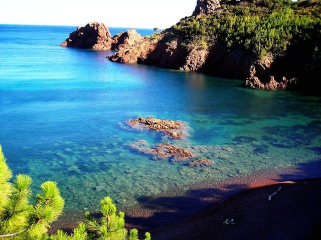 Appt 200m mer,criques sable fin, Site exceptionnel - Saint-Raphaël