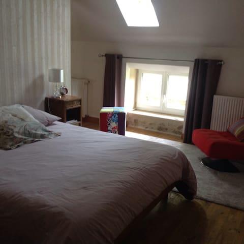 Une grande chambre dans agréable maison - La Capelle-Bleys