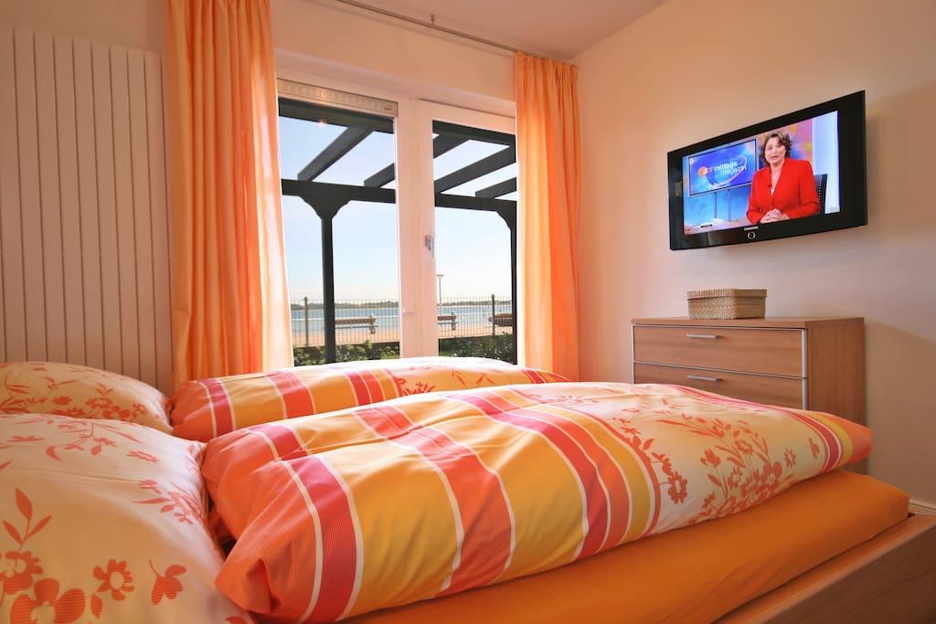 Vom Bett aus die Ostsee sehen