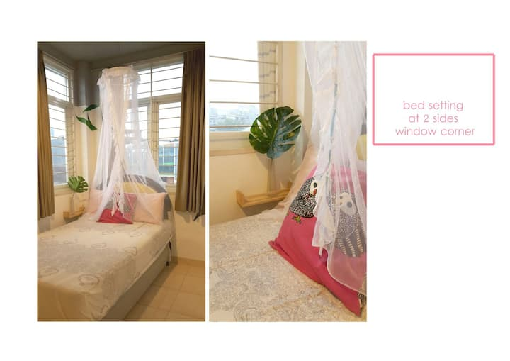 FEMALE single bed + Xtra bed