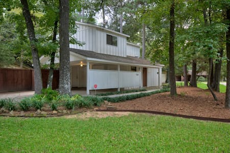 Woodlands Modern Cottage w/Private Patio & BBQ Pit