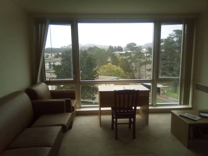 High-rise view Lake Merced apartment