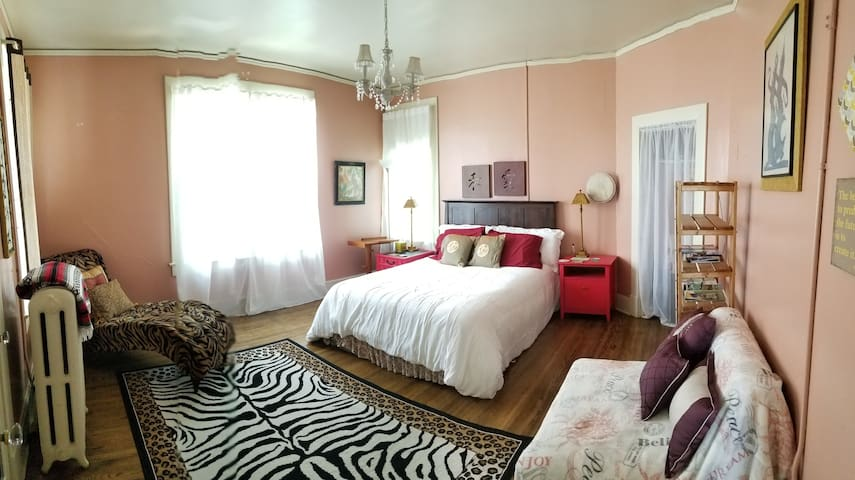 Your bedroom, linens are changed often of course, so I can't promise the exact colors, plus I like to rearrange :)