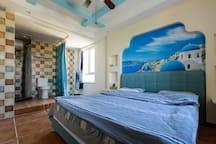 薛家岛金沙滩陶然居公寓沙滩风大床房