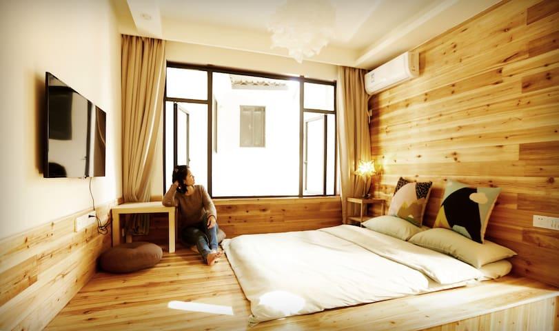 朗晴居客栈的榻榻米房 - Guilin - House