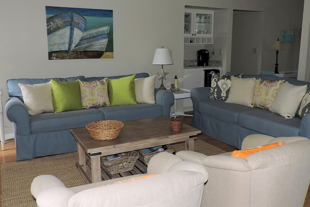 Professionally decorated living room where you can relax with friends and family