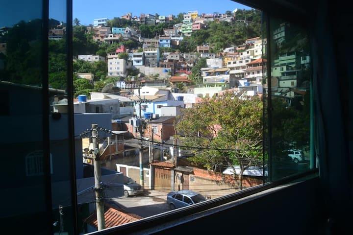 Vista da suíte do terceiro andar.