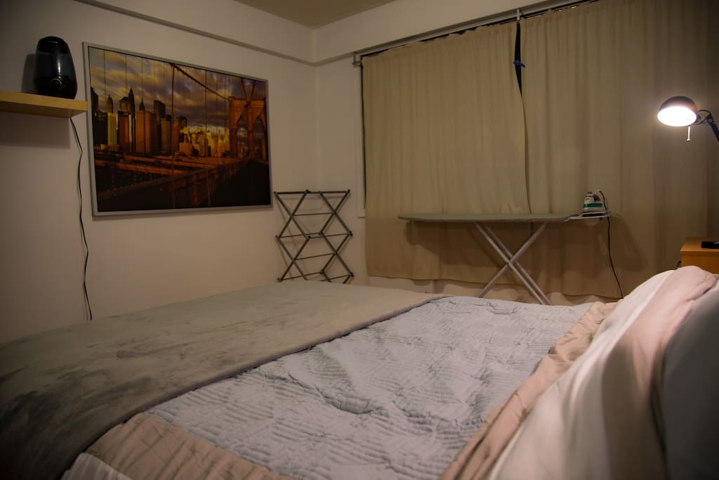 Private chamber with Queen bed and utilities